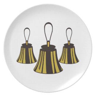 Three Handbells Melamine Plate