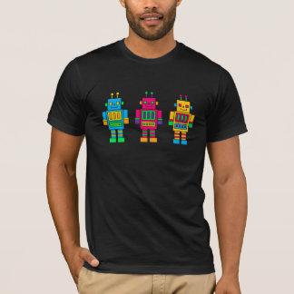 Three Happy Robots T-Shirt