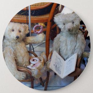 Three Happy Teddy Bears Pinback Button