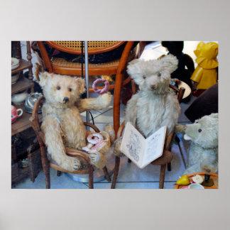 Three Happy Teddy Bears Poster