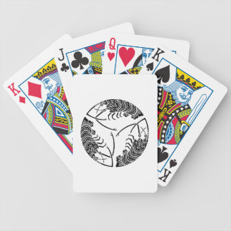 Three head-to tail spiny lobsters bicycle playing cards