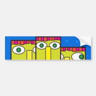 Three headed businessman bumper sticker
