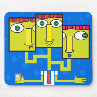 Three headed businessman mouse pad