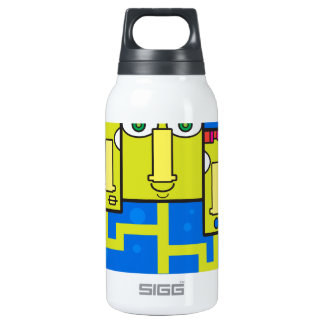 Three headed businessman 10 oz insulated SIGG thermos water bottle