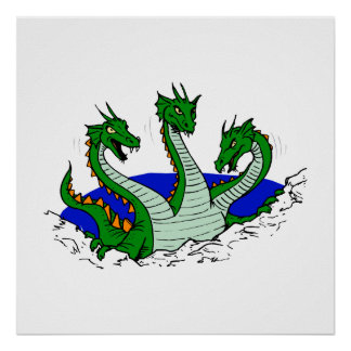 Three Headed Dragon Print
