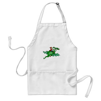 Three-Headed Dragon with Rider Adult Apron