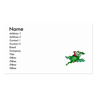 Three-Headed Dragon with Rider Business Card