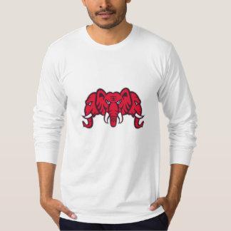 Three Headed Elephant Retro T-Shirt