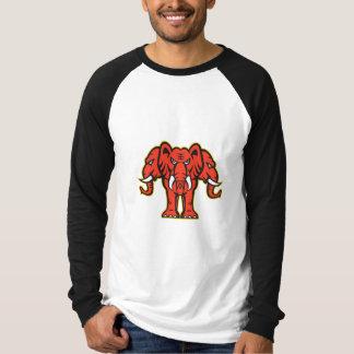 Three Headed Elephant Standing Retro T-Shirt