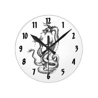 Three Headed Hydra Design Clock