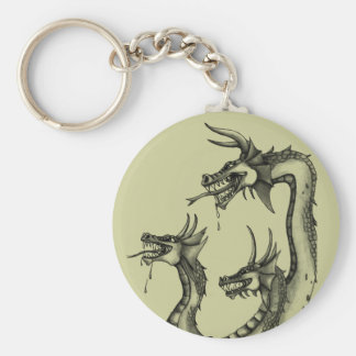 Three Headed Hydra Design Keychains