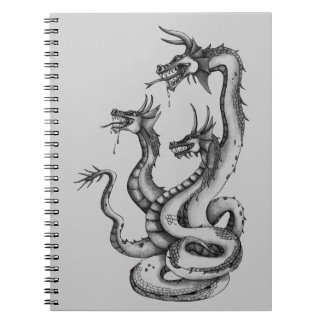 Three Headed Hydra Design Spiral Notebooks