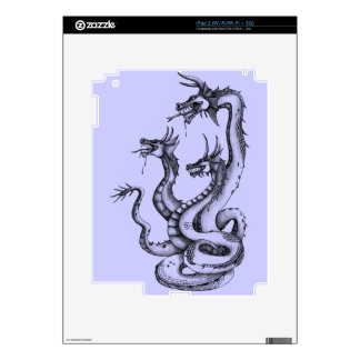 Three Headed Hydra Design Decal For iPad 2