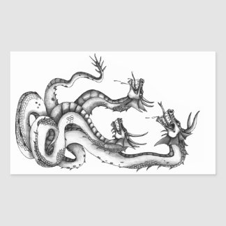 Three Headed Hydra Design Stickers
