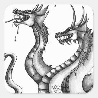 Three Headed Hydra Design Sticker