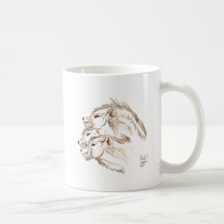 Three headed Hyena Classic White Coffee Mug