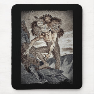 Three Headed Monster Mouse Pad