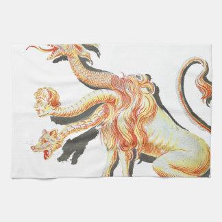 Three-Headed Satanic Monster Kitchen Towel