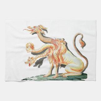 Three-Headed Satanic Monster Kitchen Towels