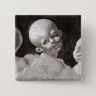 Three Heads of Children, 1506 Pinback Button