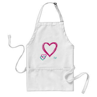 Three hearts adult apron