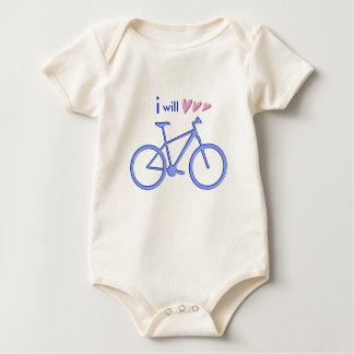 Three hearts and blue mountain bike. . baby bodysuit