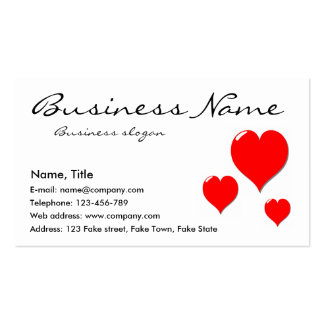 Three Hearts Business Card