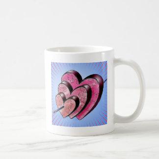 three hearts coffee mug