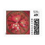 Three Hearts Postage Stamp