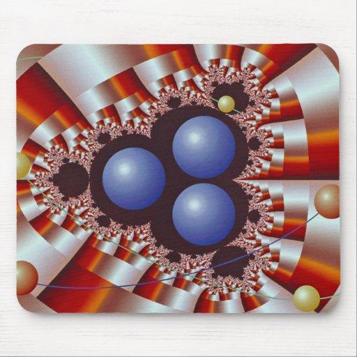 Three heavy nuclei dimension mousepad