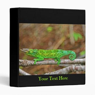Three Horned Chameleon Vinyl Binder