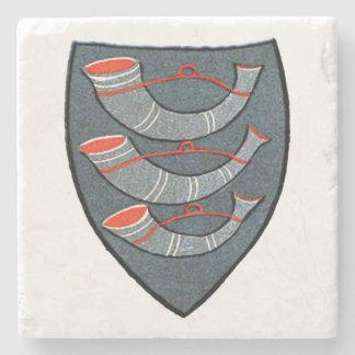 Three Horns Medieval Coaster