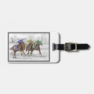 Three Horse Race - Neck and Neck Luggage Tag
