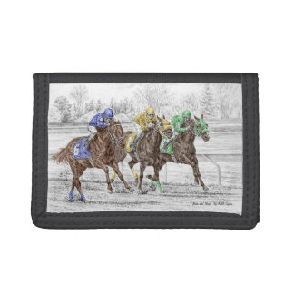 Three Horse Race - Neck and Neck Tri-fold Wallets