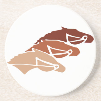 Three Horse Silhouettes Drink Coasters