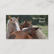 Three horses business card
