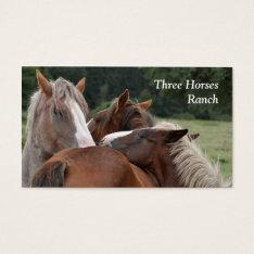 Three Horses Business Card at Zazzle