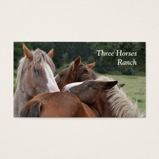 Three horses business card