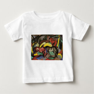 Three Horses by Franz Marc Baby T-Shirt