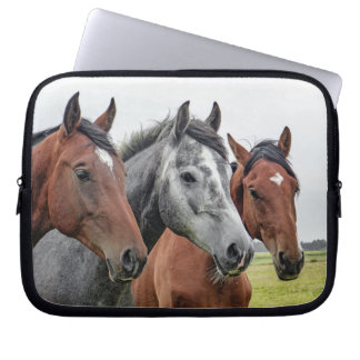 Three Horses Computer Sleeve