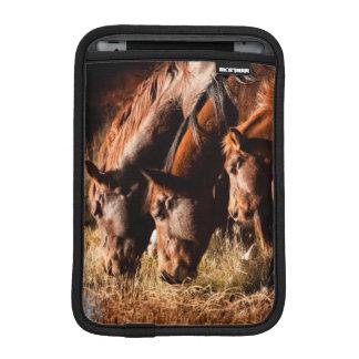 Three horses drinking in dusky light sleeve for iPad mini