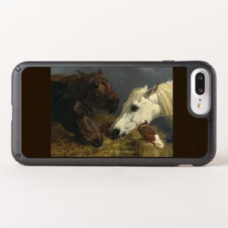Three Horses Eating by John Frederick Herring Speck iPhone Case