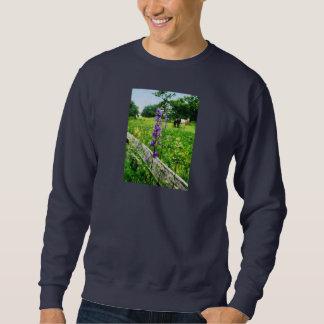 Three Horses in Distance Pull Over Sweatshirt