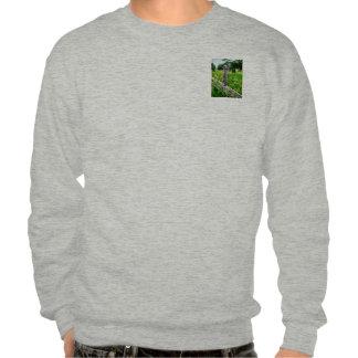 Three Horses in Distance Pullover Sweatshirts