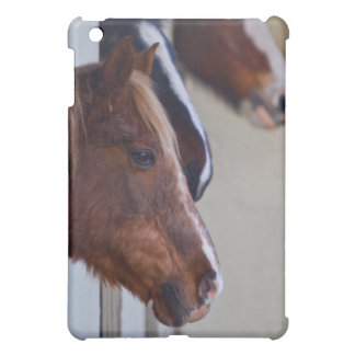 Three Horses in Stables iPad Case