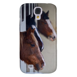 Three Horses in Stables iPhone 3 Case