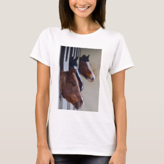 Three Horses in Stables Tee Shirt
