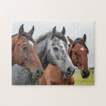 Three Horses Jigsaw Puzzle