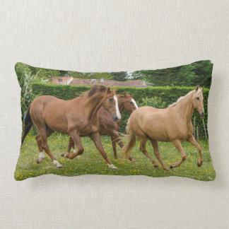 Three Horses Photo Cushion Pillow