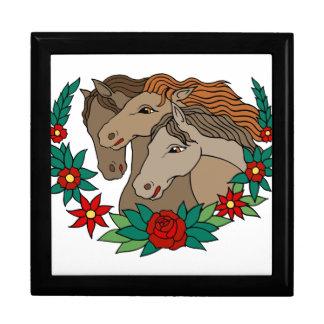 Three Horses Tattoo Art Jewelry Box
